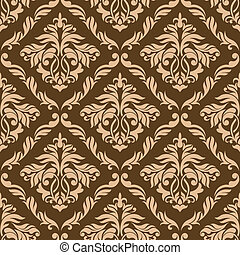 Retro brown seamless background