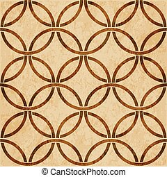 Retro brown watercolor texture grunge seamless background round cross frame chain