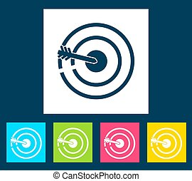 Retro bulls eye icon. Vector illustration design.