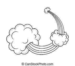 Retro Burst Clouds Designs