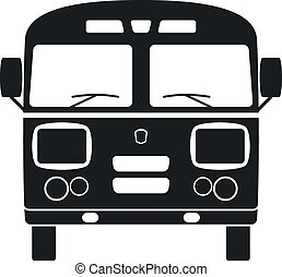 Retro Bus Icon Vector Illustration