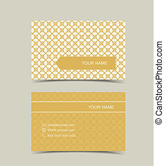 business card - Retro business card design in two sided