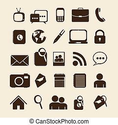 Retro business icons