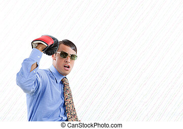 Retro Business Man Punch