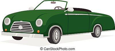 Retro Cabriolet Illustration