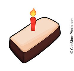 Retro Cake with Candle