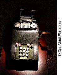 Retro Calculator - portrait of old vintage calculator