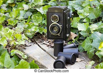 Retro camera and photographic films