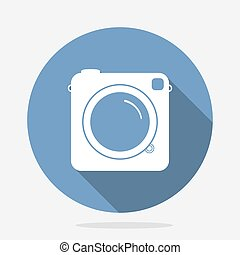 Retro Camera Blue Icon