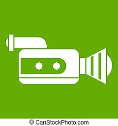 Retro camera icon green