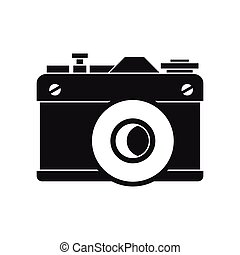 Retro Camera Icon Simple Style Icon In Simple Style On A White