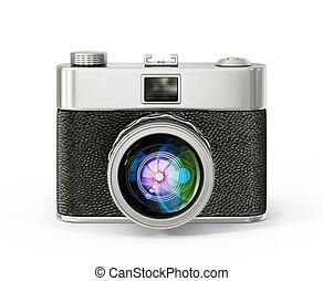 camera - retro camera isolated on a white background