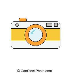 retro camera on white background