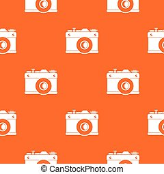 Retro camera pattern seamless