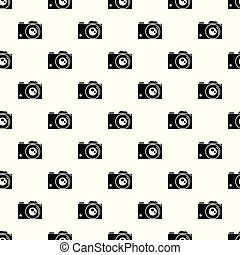 Retro camera pattern vector seamless