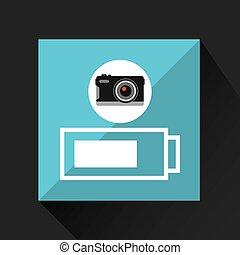 retro camera photographic battery