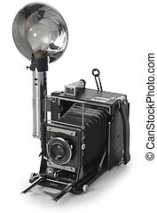Retro Seed Graphic camera shot on white background from an isomorphic view