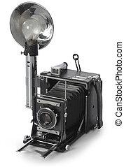 Retro camera - Retro Seed Graphic camera shot on white ...