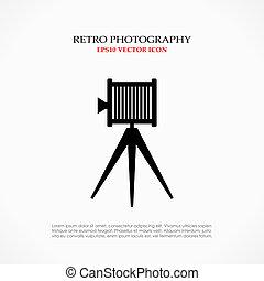 Retro camera symbol - Retro camera vector symbol