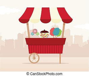 Retro candy shop.