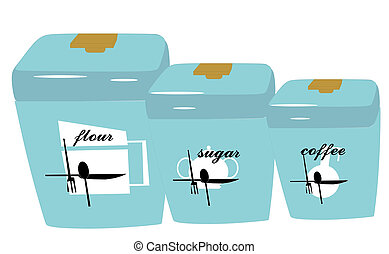 Retro Canisters in turquoise