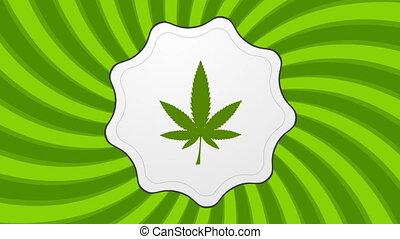 Retro cannabis icon video animation