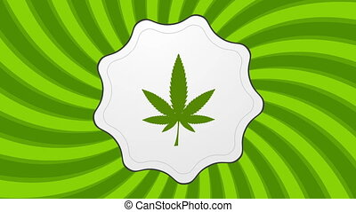 Retro cannabis icon video animation