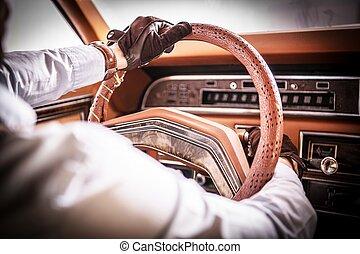 Retro Car Driving