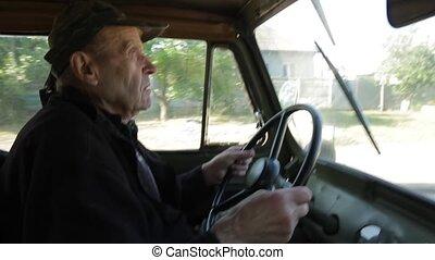 Retro car for agriculture.