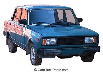 Retro car isolated - The popular Soviet car. Isolated on a...