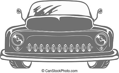 Retro car isolated vector illustration