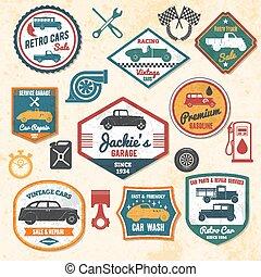 Retro Car Labels