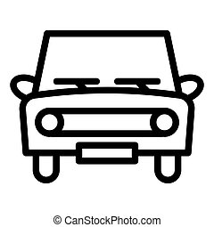 Retro car line icon. Classic car vector illustration isolated on white. Auto outline style design, designed for web and app. Eps 10.