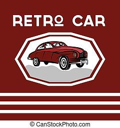 retro car old vintage poster