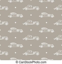 retro car pattern