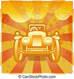 Retro car poster