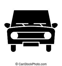 Retro car solid icon. Classic car vector illustration isolated on white. Auto glyph style design, designed for web and app. Eps 10.