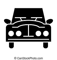 Retro car solid icon. Vintage car vector illustration isolated on white. Auto glyph style design, designed for web and app. Eps 10.
