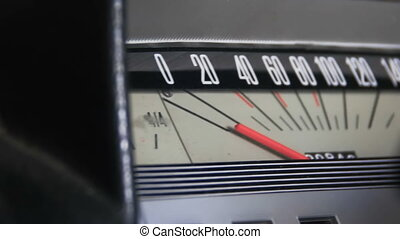 Retro car speedometer. - Vintage speedometer and instrument...