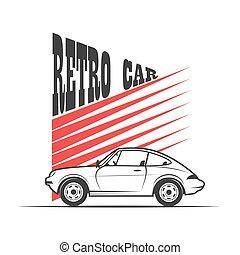 Retro car - vector illustration