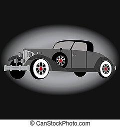 Retro car vector illustration