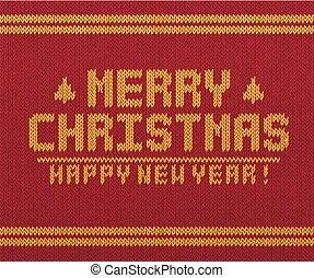retro, card., feliz navidad