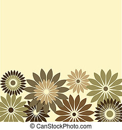 retro card of flowers