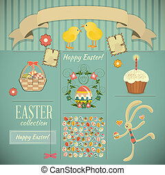 Retro Card with Easter Set
