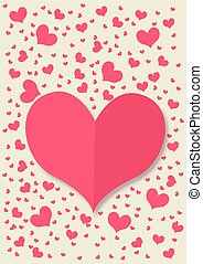 retro card with red heart