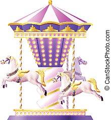 Retro Carousel Illustration