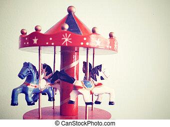retro, carrousel