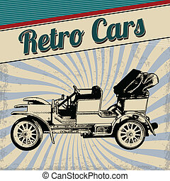 Retro cars poster design