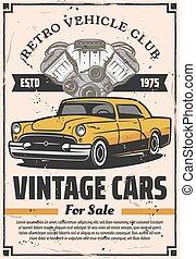 Retro cars sale, rental and repair service - Vintage cars...