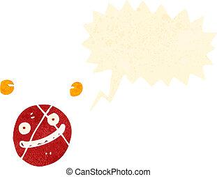 retro cartoon atom